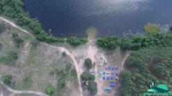 Палаточный лагерь Розовый одуванчик на берегу озера Сайвер
