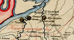 Окрестности села Покровское в 1912 году