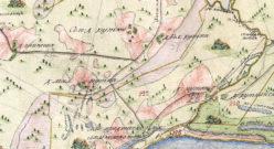 Окрестности села Ахмылово Предтеченское (Коротни) в 1792 году
