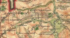 Окрестности деревни Караева (Янькино) в 1792 году
