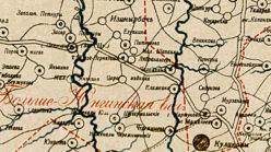 Окрестности деревни Царамайкино в 1912 году