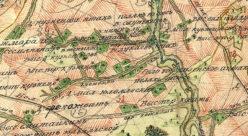 Окрестности села Богоявленское Апшат (Кузнецово) в 1792 году